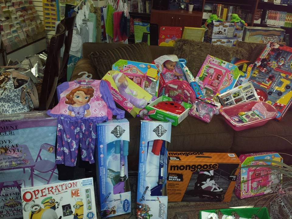 Christmas gifts for children in shelter